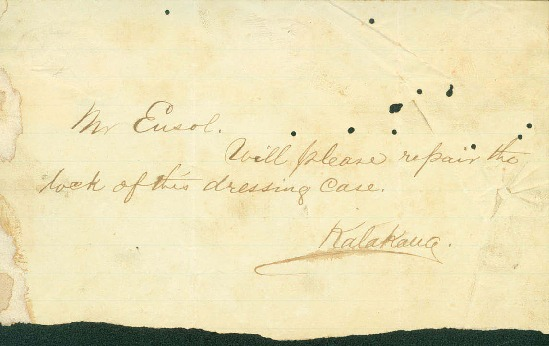 Kalakaua, David - Ali`i Letters - No Date - to Ensol
