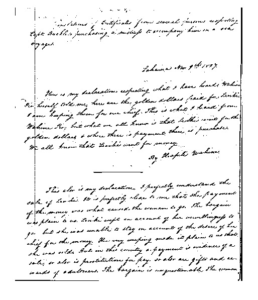 Hoapiliwahine - Ali`i Letters - 1827.11.09 - to unknown recipient