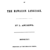 Grammar of the Hawaiian Language