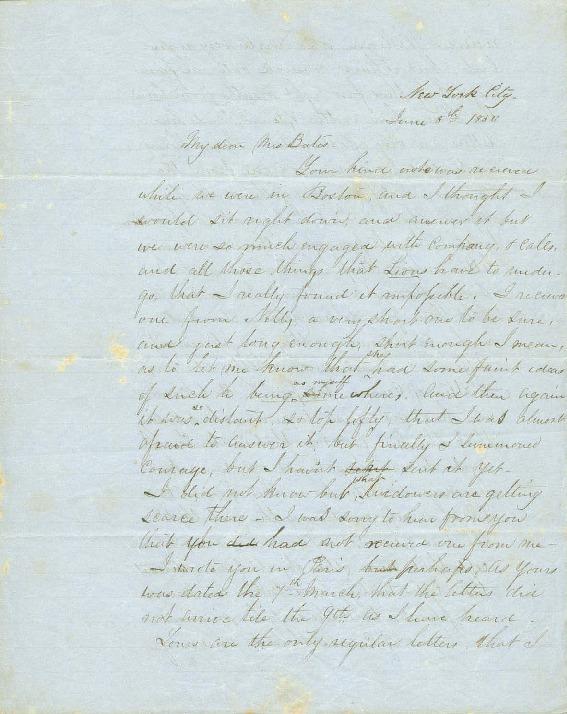 Liholiho, Alexander - Ali`i Letters - 1850.06.08 - to Bates