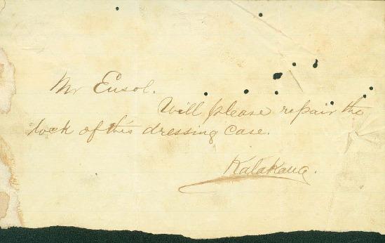 Kalakaua, David - Ali`i Letters - No Date - to Ensol