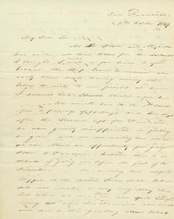 Kapuaiwa, Lot - Ali`i Letters - 1849.10.10 - to Bates