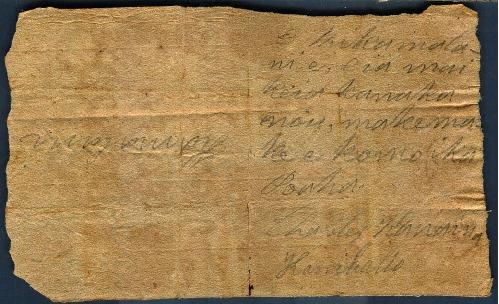 Kanaina - Ali`i Letters - 1831.07.15 - to Chamberlain, Levi