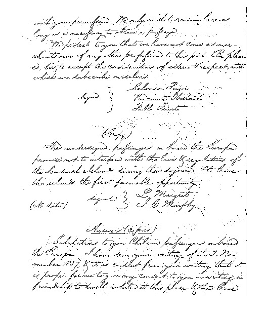 Kinau - Ali`i Letters - 1837.11.02 - from Father Maiget and Father Murphy