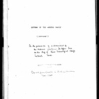 Andrews, Seth - Missionary Letters - 1837-1847_To family in the U.S.