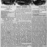 The Friend - 1864.09.01 - Newspaper