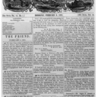 The Friend - 1861.02.01 - Newspaper