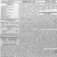 The Friend - 1852.05.01 - Newspaper