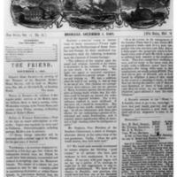 The Friend - 1861.11.01 - Newspaper