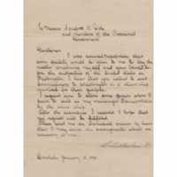 Kingdom of Hawaii - 1893.01.18 - Letter from Queen Liliuokalani to Provisional Government