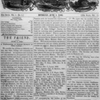 The Friend - 1860.06.01 - Newspaper