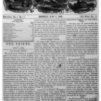 The Friend - 1860.07.07 - Newspaper