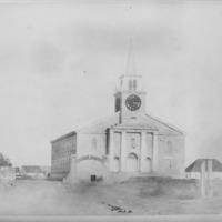N-0011 - Kawaiahao Church, fifth, 1840. Photograph.