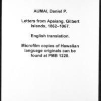 HMCSL - Micronesian Mission Collection - Aumai, Daniel P. - 11