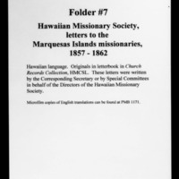 HMCSL - Marquesas Collection - Hawaiian Missionary Society - 7