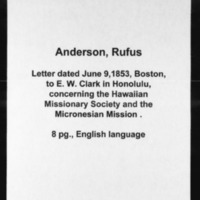 HMCSL - Micronesian Mission Collection - Anderson, Rufus - 9