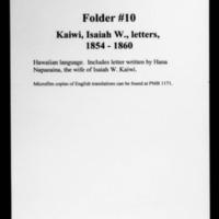 HMCSL - Marquesas Collection - Kaiwi, Isaiah W. - 10