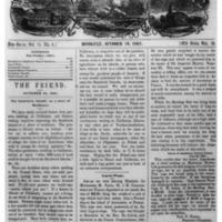 The Friend - 1861.10.19 - Newspaper
