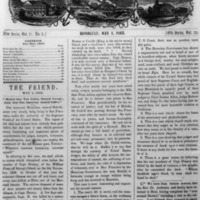 The Friend - 1863.05.01 - Newspaper