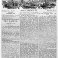 The Friend - 1860.02.01 - Newspaper