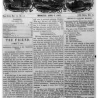 The Friend - 1861.04.01 - Newspaper