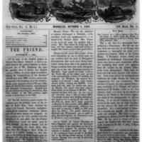 The Friend - 1861.10.01 - Newspaper
