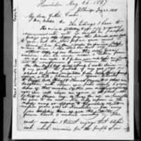 Lyons, Lorenzo - Missionary Letters - 1838-1852 - to Curtis family