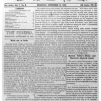 The Friend - 1852.09.15 - Newspaper