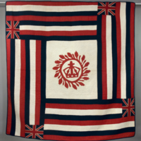 HMH Material Culture Collection - Hawaiian Flag Quilt - 82.4.1.B8