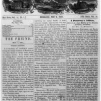 The Friend - 1861.05.01 - Newspaper