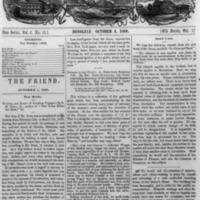 The Friend - 1860.10.01 - Newspaper
