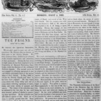 The Friend - 1863.08.04 - Newspaper