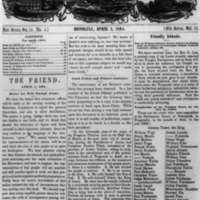 The Friend - 1864.04.01 - Newspaper