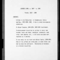 Lyons, Lorenzo - Missionary Letters - 1840-1884 - to Baldwin, Dwight