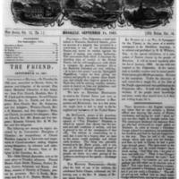 The Friend - 1861.09.14 - Newspaper