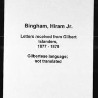 HMCSL - Micronesian Mission Collection - Bingham, Hiram Jr. - 13