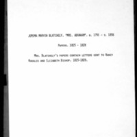 Blatchely, Abraham - Missionary Letters - 1824-1828 - From Jemima Blatchely to Nancy Ruggles, Elizabeth Bishop